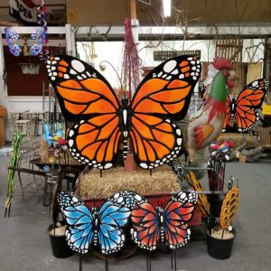 Outdoor Metal Butterfly | The Lucky Bamboo Store at Zern's